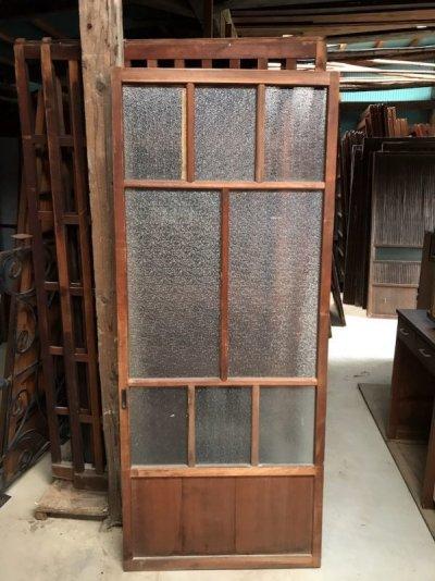 画像1: ガラス玄関格子戸
